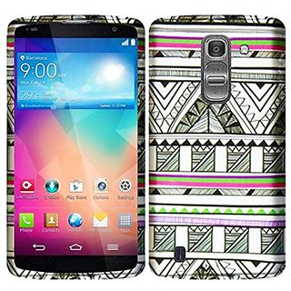 HR Wireless Rubberized Design Cover Case for LG G PRO 2 - Retail Packaging - Antique Aztec Tribal