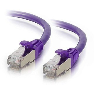 C2G / Cables To Go 00901 Cat6 Snagless Shielded (STP) Network Patch Cable, Purple (5 Feet/1.52 Meters)