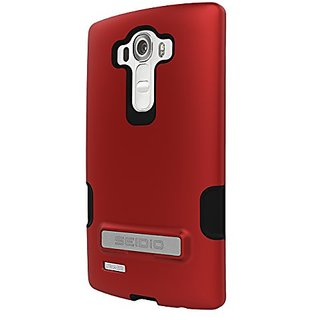 Seidio DILEX Pro Metal Kickstand Case with Two Interlocking Layers for use with LG G4 - Garnet Red