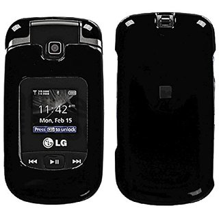 MyBat ASMYNA LG VX8370 Solid Phone Protector Cover - Retail Packaging - Black