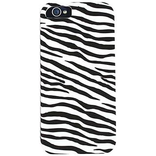 Cell Armor Snap-On Case for iPhone 5 - Retail Packaging - Leather Finish Zebra Print