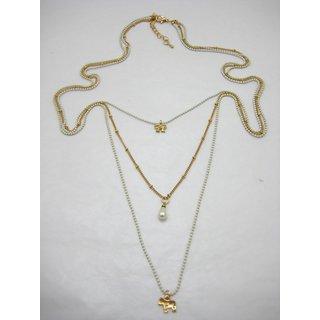 Cute Long Korean Multi-Chain Necklace