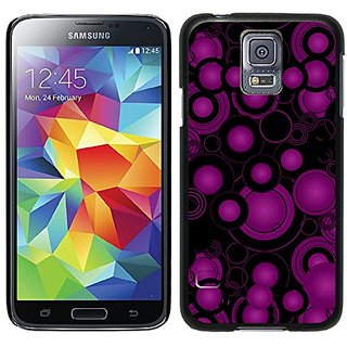Coveroo Thinshield Cell Phone Case for Samsung Galaxy S5 - Crazy Circles Purple