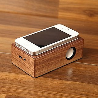 LSLYA(TM) wooden wireless speaker Portable Stereo NFC Speaker USB charging Audio Speaker for mobile phone and tablet