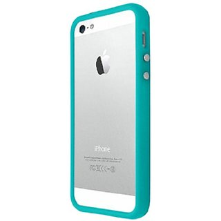Decoro Dbip5Bl Premium TPU/PC Bumper Case for iPhone 5 - Retail Packaging - Blue