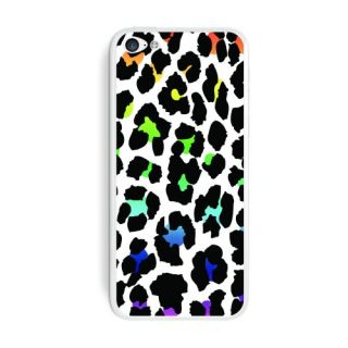 Graphics and More Leopard Spots Animal Print Rainbow On White Protective Skin Sticker Case for Apple iPhone 5C - Set of