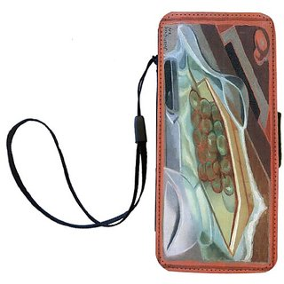 Rikki Knight Juan Gris Art Grapes Flip Wallet iPhoneCase with Magnetic Flap for iPhone 5/5s - Grapes