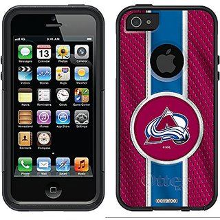Coveroo Commuter Series Cell Phone Case for iPhone 5/5S - Retail Packaging - Colorado Avalanche Jersey Stripe