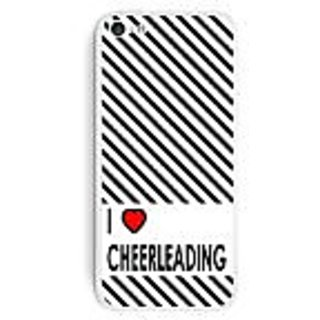 Graphics and More I Love Heart Cheerleading Protective Skin Sticker Case for Apple iPhone 5C - Set of 2 - Non-Retail Pac