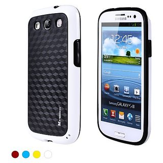 Megix Technology Knight Series Flexible TPU Hybrid Case Cover for Samsung Galaxy S3 - Retail Packaging - White