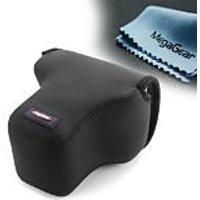 MegaGear Ultra Light Neoprene Camera Case Bag For Olympus OM-D E-M1 With 12-40mm (Black)