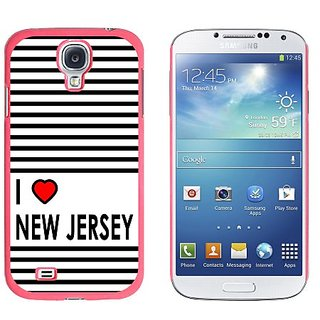Graphics and More I Love Heart New Jersey Snap-On Hard Protective Case for Samsung Galaxy S4 - Non-Retail Packaging - Pi