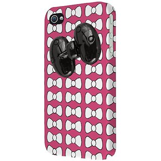 Empire Signature Series Slim-Fit Case for Apple iPhone 4/4S - Retail Packaging - Hot Pink Bow-Tique