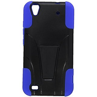 Zizo ZTE Quartz Z797c HYBRID PC/SC Combo Cover with Kickstand - Retail Packaging - Blue