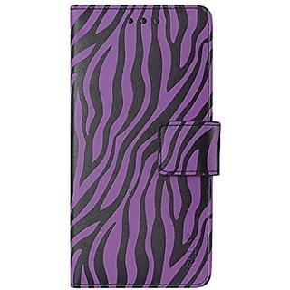 Reiko wallet case 3 in 1 for iPhone 6 plus 5.5inch zebra pattern purple