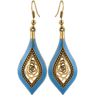 Blue Hanging Earrings