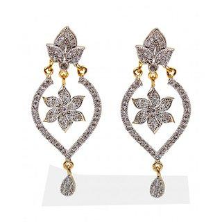 American Diamond Fashion Hanging Partywear Earring