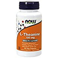 NOW Foods L-theanine, 100 Mg, 90 Capsules (Packaing May