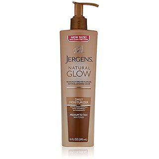 Jergens Natural Glow Daily Moisturizer, Medium to Tan, 10 Ounce