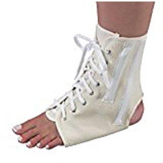 Bilt-Rite Mastex Health Canvas Ankle Brace with Laces, Black, Medium