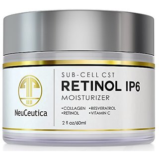 NeuCeutica Retinol Moisturizer Cream Anti Wrinkle for Neck, Face: With Collagen, Vitamin C, Resveratrol - 2 Ounce