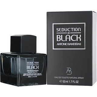 Antonio Banderas Seduction in Black Eau De Toilette Spray for Men, 1.7 Ounce