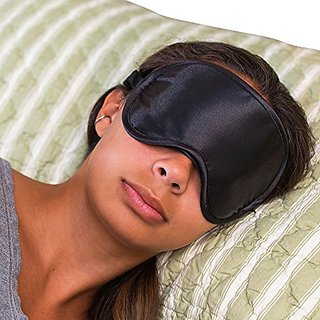 Super Silky Super-Soft Sleep Mask With Free Ear Plugs and Carry Case By 40 Winks. This Premium Quality Eye Mask is Ultra