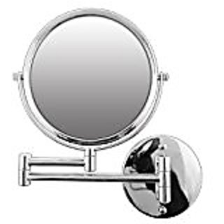 Rucci Normal View Swivel Arm Wall-Mounted Mirror, Silver, 7X
