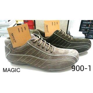 Trax Men's Green & Grey Casual Shoes