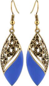 Blue Hook Dnagle Earrings