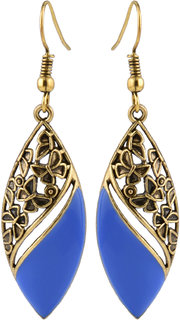 Blue Hook Dnagle Earrings
