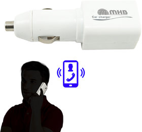 M MHB Car Charger GSM Professional Ear Bug Clear Listening 2-Way Audio Bug Device Voice Callback Audio Surveillance Spy Hidden Vehicle.Only Sold by M MHB
