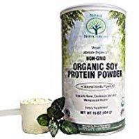 Natural Nutra Organic Soy Protein Isolate Powder, Vanil