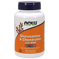 NOW Foods Glucosamine & Chondroitin With MSM 90 Capsule