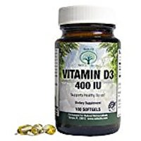 Natural Nutra Vitamin D3 Supplement, 400 IU, 100 Softge