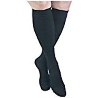 Gabrialla G H-304(2) M BL Microfiber Knee Highs, Black, Medium