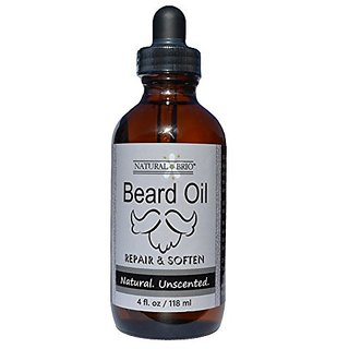 Natural Brio Premium Unscented Beard Oil - Condition, Soften and Repair, 4 Fl. Oz