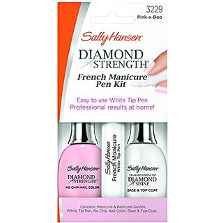 Sally Hansen Treatment Diamond Strength French Manicure Pen Kit Pink-A-Boo, 3229, 0.45 Fluid Ounce