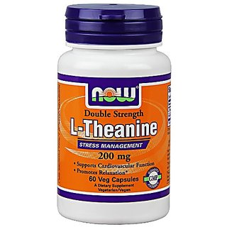 Buy Now Foods, L-Theanine 200 Mg, Veg-Capsules, 60-Count