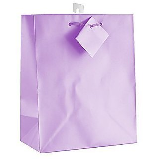 12-PC Solid Color Gift Bags, Matt Laminated, Lavender Color by Paper Impression