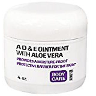 Bronson Labs: A, D and E Ointment with Aloe Vera, Soothing Relief for Dry Skin, 4 oz Jar