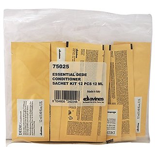 Davines Dede Delicate Daily Conditioner Sachet Kit, 12 Count, 12 ml (0.40 fl oz)