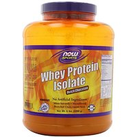 NOW Foods Whey Protein Isolate, Dutch Chocolate, 5-Poun