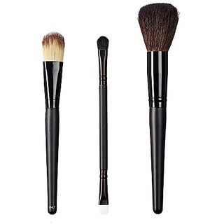 ON&OFF East Meets West Collection Color Lay Down, Duo Fluff/Conceal and Domed Powder Brush Set