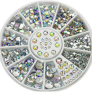 Xinliya DIY Nail Art Rhinestones Crystal Wheels Manicure 3D Nail Art Decorations (1 set)