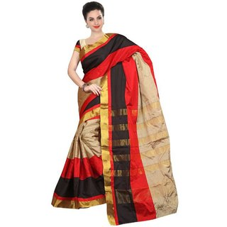 046b0dca040037 Buy Mahadev Women s Weaving Plain Cotton Silk Saree With Unstitched Blouse  Piece Gold Printed Border Online - Get 65% Off
