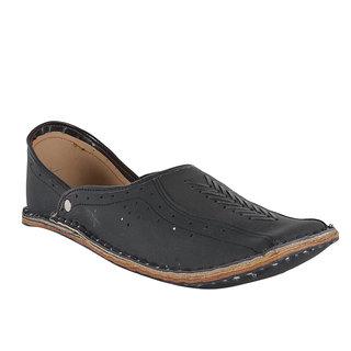 DFR Ethnic Shoe Style Jutti-Black