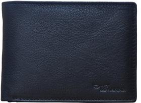 Tamanna Men Black Genuine Leather Wallet  (5 Card Slots)