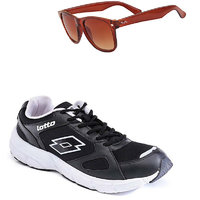 Lotto Black And White Sport Running Shoes F5R2565-3597 - 101076554