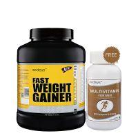 Medisys Fast Weight Gainer - Banana - 3Kg Free Multivitamin For Men